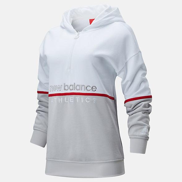 New Balance 女款半拉链连帽卫衣, WT01502WT