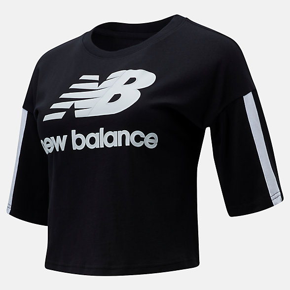 New Balance NB Athletics Short Sleeve Stacked Tee, WT01505BK
