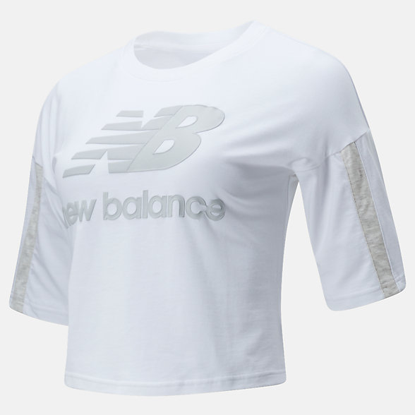New Balance NB Athletics Short Sleeve Stacked Tee, WT01505WT