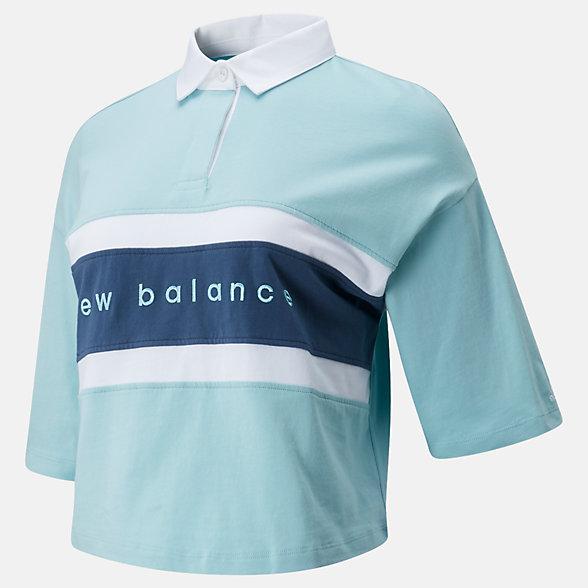 New Balance NB Athletics Prep Short Sleeve Boxy Polo, WT01510DRZ