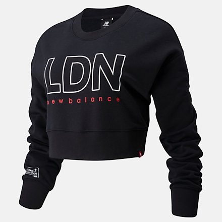 NB London Marathon Essentials Icon Crew, WT01513DBK image number null