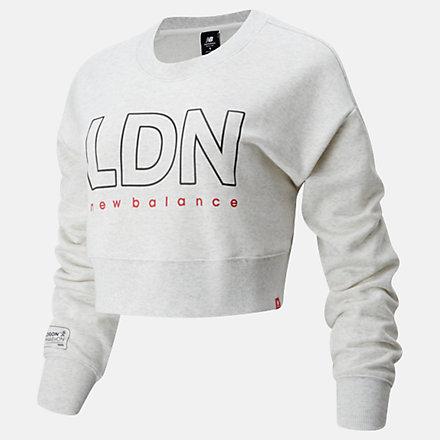 NB London Marathon Essentials Icon Crew, WT01513DSAH image number null