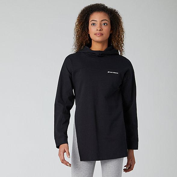 New Balance Sport Style Long Sleeve Hoodie, WT01521BK
