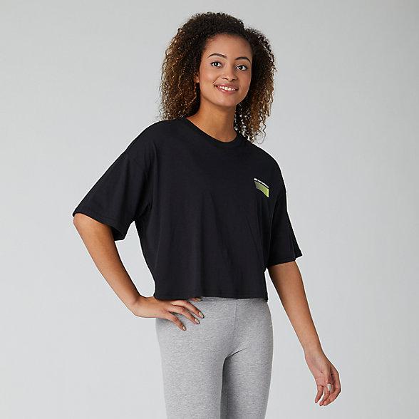 New Balance Sport Style Optiks Short Sleeve Boxy Tee, WT01525BK