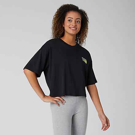 New Balance Sport Style Optiks Short Sleeve Boxy Tee, WT01525BK image number null
