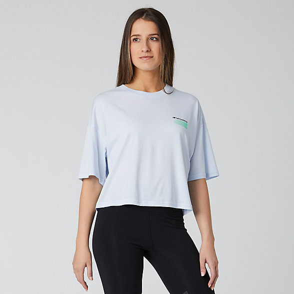 New Balance Sport Style Optiks Short Sleeve Boxy Tee, WT01525MND