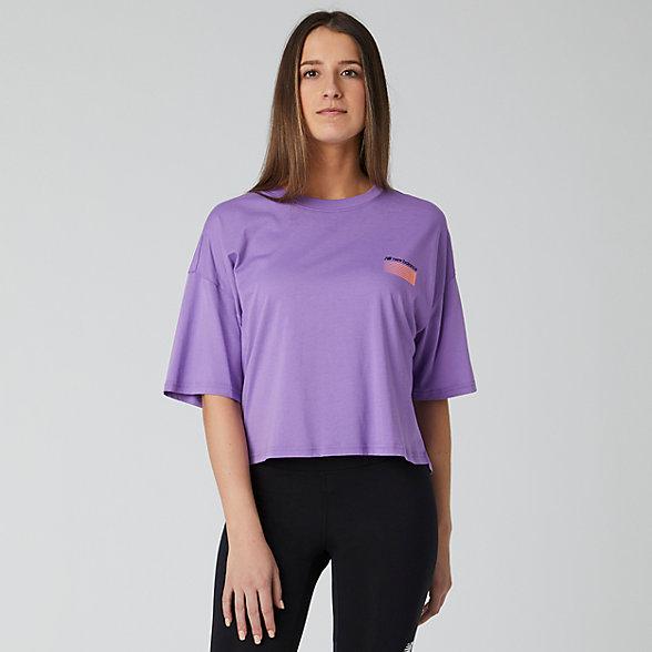 New Balance Sport Style Optiks Short Sleeve Boxy Tee, WT01525NVI
