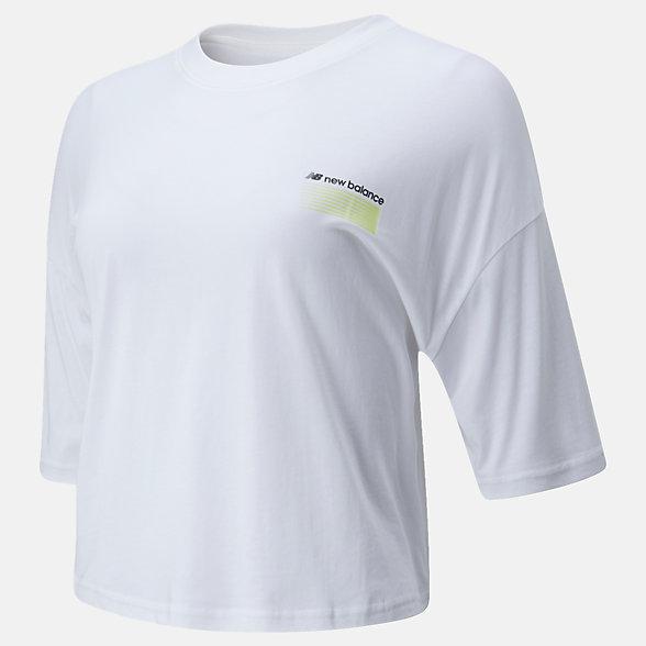 New Balance Sport Style Optiks Short Sleeve Boxy Tee, WT01525WT