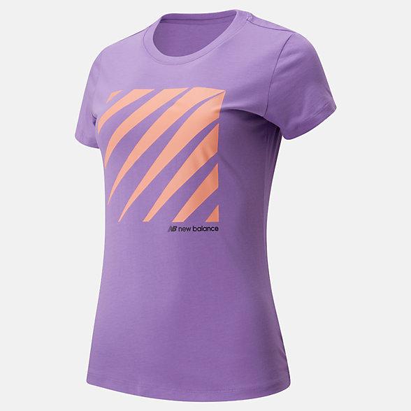 New Balance Sport Style Optiks Short Sleeve Tee, WT01526NVI