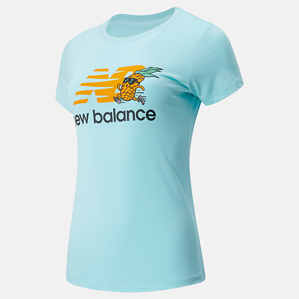 New Balance NB Athletics Tropics Stacked Logo Tee, WT01558BB2