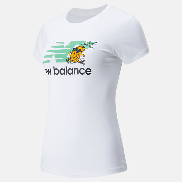 New Balance NB Athletics Tropics Stacked Logo Tee, WT01558WT
