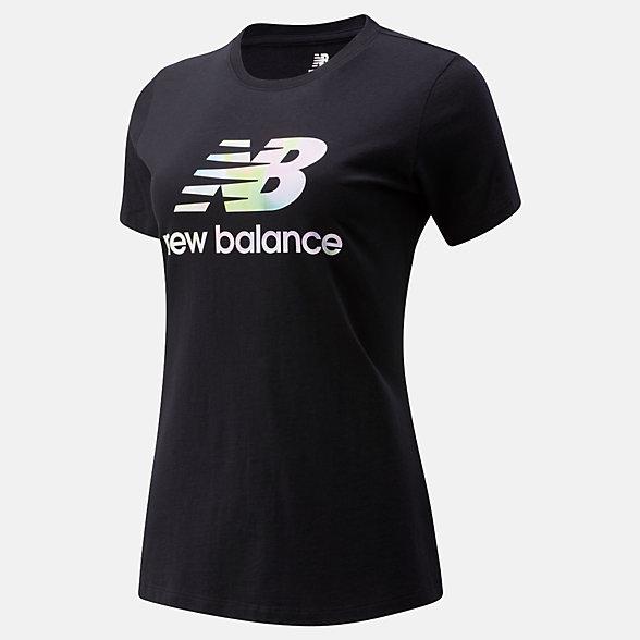 New Balance Essentials Soft Spectrum Graphic Tee, WT01569BK