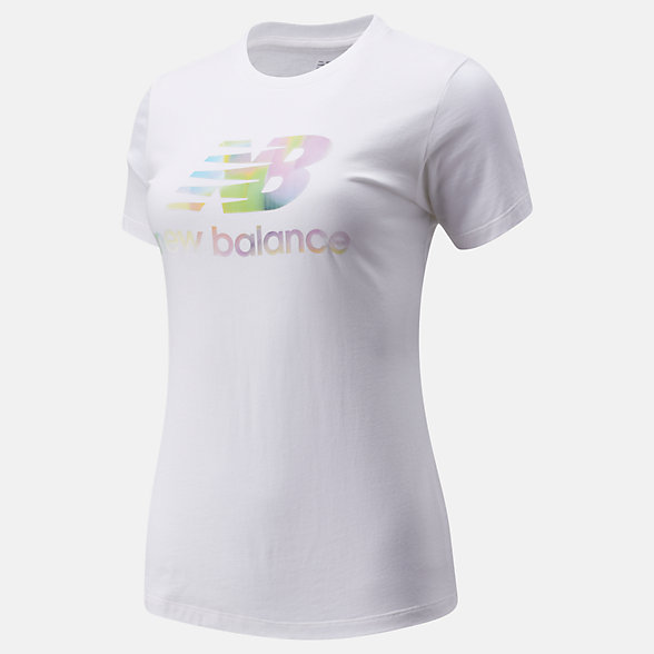 New Balance Essentials Soft Spectrum Graphic Tee, WT01569WT