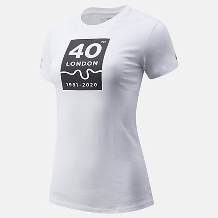 NB London Marathon 40th Map Graphic Tee, WT01611DWT image number null