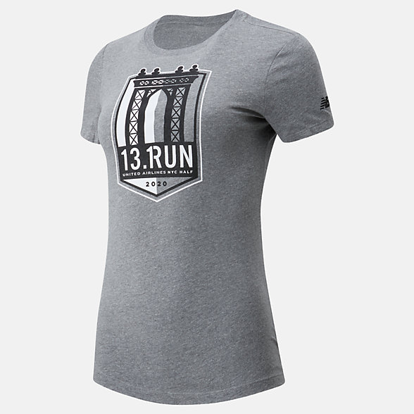 New Balance 2020 United Airlines Half 13.Run Tee, WT01614CAG