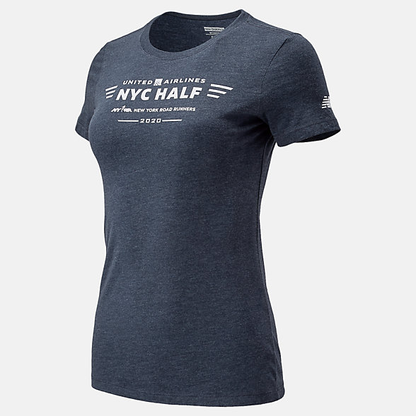 New Balance 2020 United Airlines Half Logo Tee, WT01615CECL