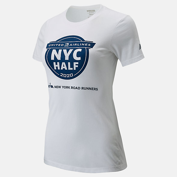New Balance 2020 United Airlines Half Finisher Map Tee, WT01619CWT