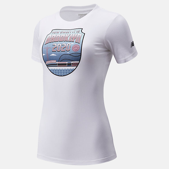 New Balance Popular Brooklyn Half How Sweet Tee, WT01632FWT