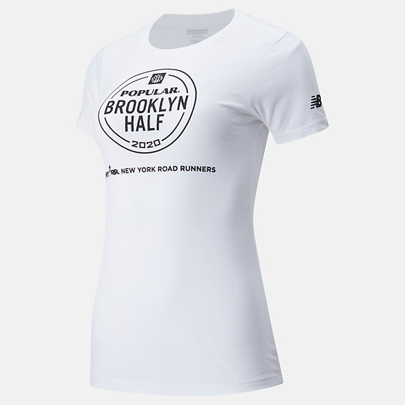 New Balance Popular Brooklyn Half Logo Tee, WT01636FWT