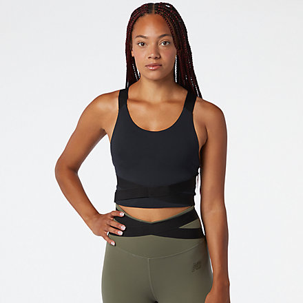 New Balance Determination Academy Crop Bra, WT03110BK image number null
