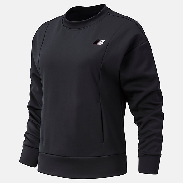 New Balance Relentless Tech Fleece Crew, WT03146BK