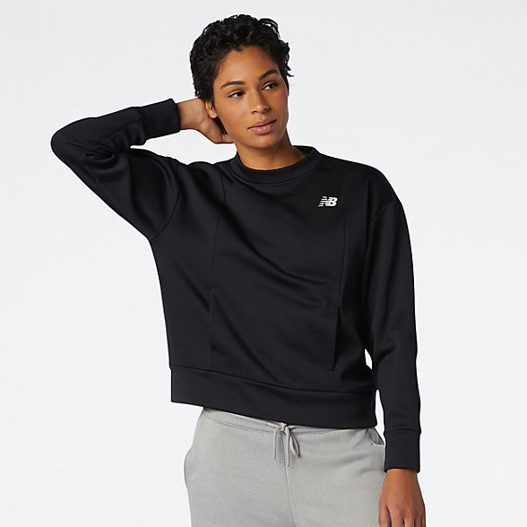 NB Top à manches longues Relentless Tech Fleece Crew, WT03146BK