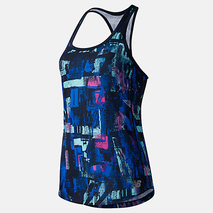 New Balance Printed Accelerate Tank, WT03202NML image number null