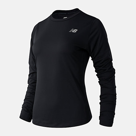 New Balance Accelerate Long Sleeve, WT03205BK image number null
