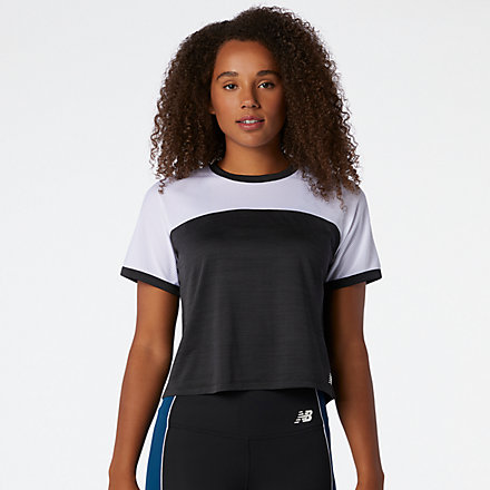 New Balance Fast Flight Short Sleeve Top, WT03222BKW image number null