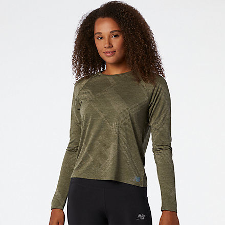 New Balance Q Speed Fuel Jacquard Long Sleeve, WT03259NG1 image number null