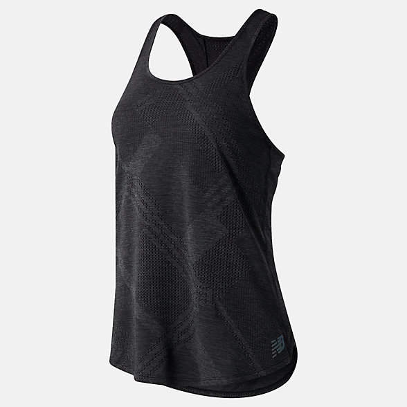 NB Q Speed Fuel Jacquard Tank, WT03260BKH