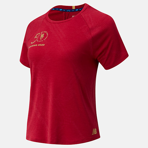 New Balance NYC Marathon Q Speed Fuel Jacquard Short Sleeve, WT03261MNCR