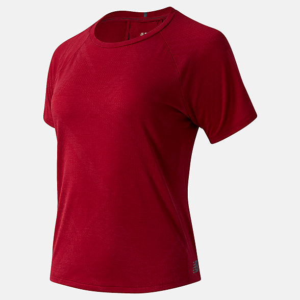 New Balance Q Speed Fuel Jacquard Short Sleeve, WT03261NCR