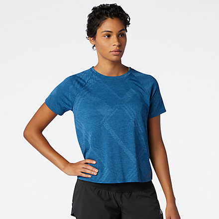 New Balance Q Speed Fuel Jacquard Short Sleeve, WT03261RWH image number null