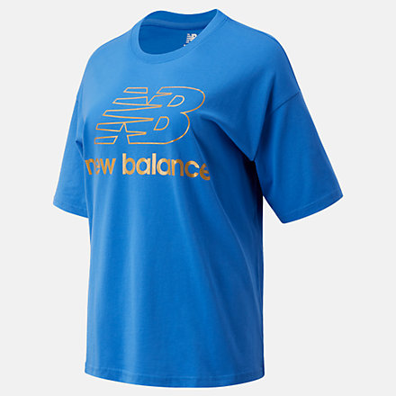 New Balance NB Athletics Village Short Sleeve Stacked Graphic, WT03505FCB image number null