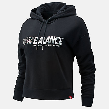 New Balance Essentials NB Speed Hoodie, WT03508BK image number null