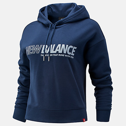 New Balance Essentials NB Speed Hoodie, WT03508NGO image number null