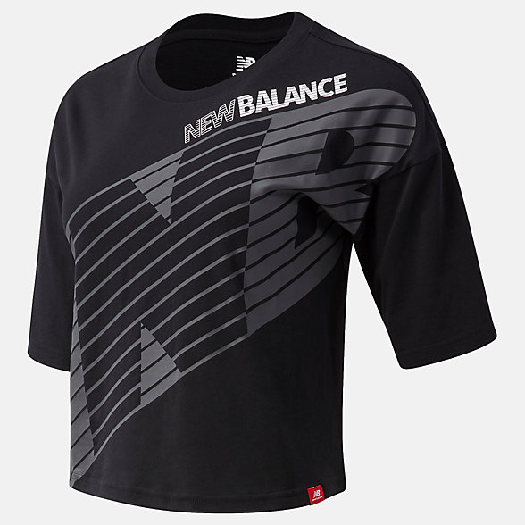 New Balance Essentials NB Speed Graphic Tee, WT03510BK