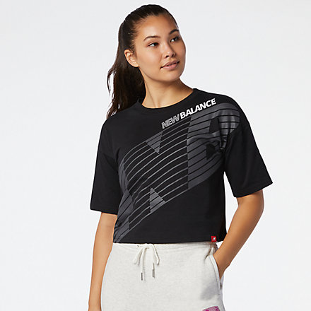 New Balance Essentials NB Speed Graphic Tee, WT03510BK image number null