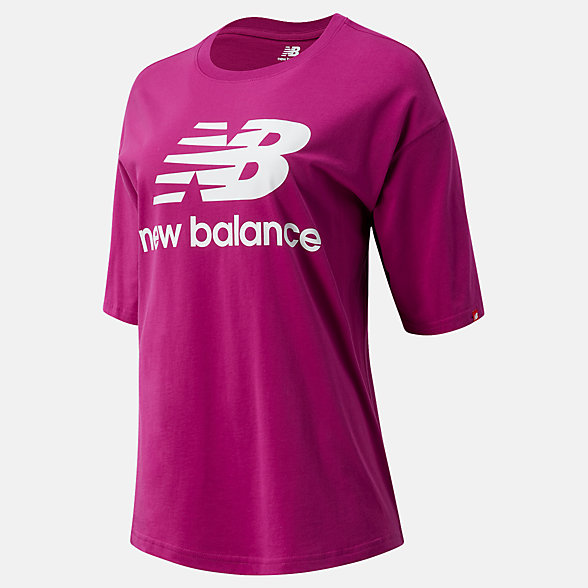 New Balance NB Essentials Stacked Logo Tee, WT03519JJL