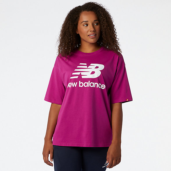 New Balance NB Essentials Stacked Logo Tee, WT03519JJL