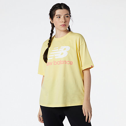 New Balance NB Essentials Stacked Logo Tee, WT03519LHZ image number null