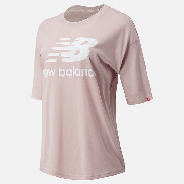 New Balance NB Essentials Stacked Logo Tee, WT03519SCI