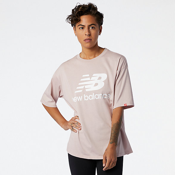 NB Camiseta NB Essentials Stacked Logo, WT03519SCI