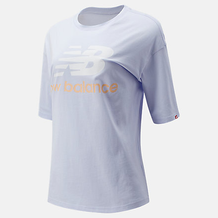 New Balance NB Essentials Stacked Logo Tee, WT03519SIY image number null