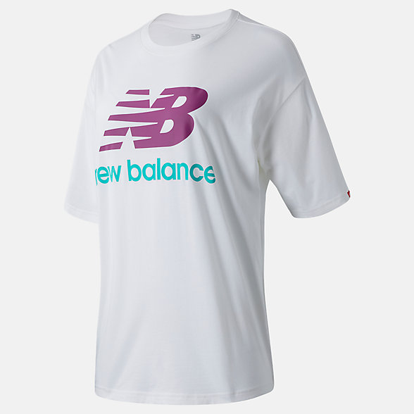 New Balance NB Essentials Stacked Logo Tee, WT03519WM