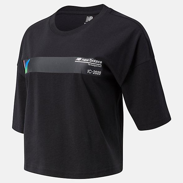 New Balance Sport Style Optiks Short Sleeve Tee, WT03525BK
