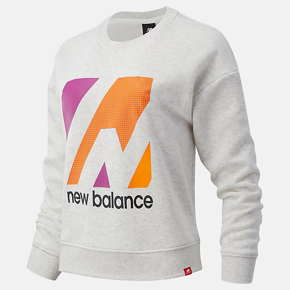 NB Essentials Terrain Graphic Crew Fleece Top, WT03533SAH