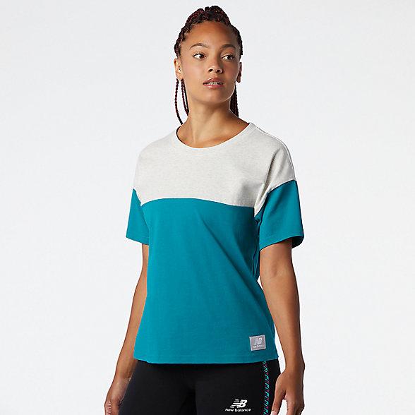 NB NB Athletics Terrain Blocked T-Shirt, WT03544TMT