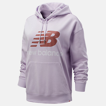 New Balance NB Essentials Stacked Logo Oversized Hoodie, WT03547AAG image number null
